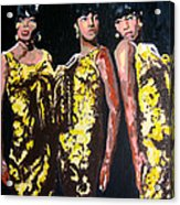 Original Divas The Supremes Acrylic Print