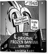 Original Frozen Banana Sign On Balboa Island Picture Acrylic Print