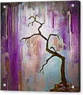 Original Painting Expressionist Contemporary Tree Art Acrylic Print