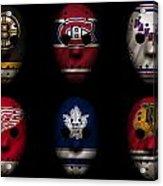 Original Six Jersey Mask Acrylic Print