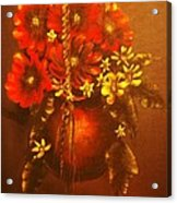 Hanging Flower Pot-original Sold-buy Giclee Print Nr 24 Of Limited Edition Of 40 Prints   Acrylic Print
