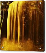 Moon Shadow Waterfalls- Original Sold - Buy Giclee Print Nr 30 Of Limited Edition Of 40 Prints    Acrylic Print