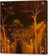 Parks Gate-original Sold- Buy Giclee Print Nr 29 Of Limited Edition Of 40 Prints  Acrylic Print