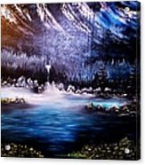 Winter Grace-original Sold-buy Giclee Print Nr 32 Of Limited Edition Of 40 Prints  Acrylic Print