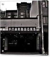 Original Starbucks Black And White Acrylic Print