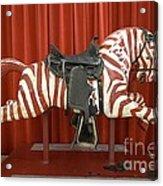 Original Zebra Carousel Ride Acrylic Print