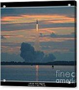 Orion Test Flight Acrylic Print