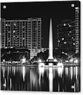 Orlando Black And White Night Acrylic Print
