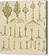 Ornamental Knobs Shaped As Domes Acrylic Print