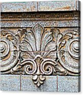 Ornamental Scrollwork Panel - Architectural Detail Acrylic Print