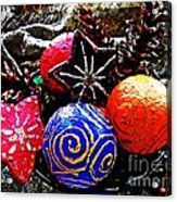 Ornaments 7 Acrylic Print by Sarah Loft