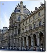 Ornate Architectural Artwork On The Buildings Of The Musee Du Louvre In Paris France Acrylic Print