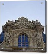 Ornate Architectural Artwork On The Musee Du Louvre Buildings In Paris France  Acrylic Print