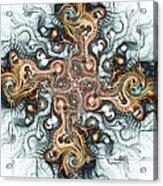Ornate Cross Acrylic Print by Anastasiya Malakhova