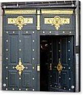 Ornate Door On Champs Elysees In Paris France Acrylic Print
