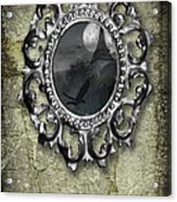 Ornate Metal Mirror Reflecting Church Acrylic Print