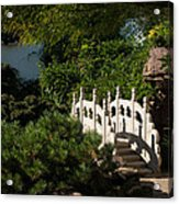 Ornate White Stone Bridge  Acrylic Print