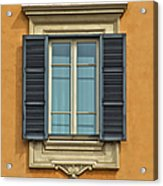 Ornate Window Of Rome Acrylic Print