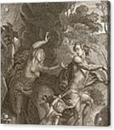 Orpheus, Leading Eurydice Out Of Hell Acrylic Print