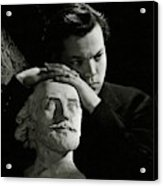 Orson Welles Resting On A Sculpture Acrylic Print