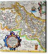 Ortelius Map Of Portugal Porvgalliae Geographicus Portugalliae Ortelius 1587 Acrylic Print