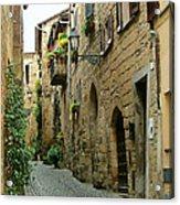 Orvieto Lane Acrylic Print