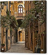 Orvieto Side Street Acrylic Print by Lynn Andrews