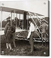 Orville Wright And Aeroplane  1908 Acrylic Print