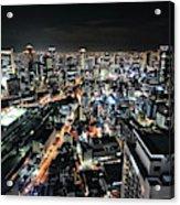 Osaka Night View Acrylic Print