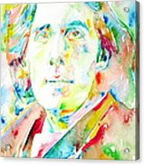 Oscar Wilde Watercolor Portrait.1 Acrylic Print
