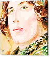 Oscar Wilde Watercolor Portrait.3 Acrylic Print