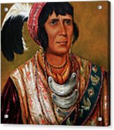 Osceola The Black Drink A Warrior Of Great Distinction By John Travisano After George Catlin Acrylic Print by John Travisano