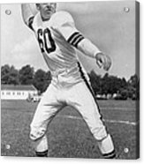Otto Graham Nfl Legend Poster Acrylic Print by Gianfranco Weiss