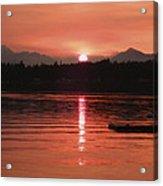 Our Beach At Sunset  Acrylic Print