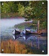 Our Canoes Await Acrylic Print