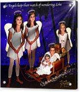 Our Christmas Angels Acrylic Print