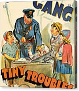 Our Gang Vintage Movie Poster 1930s Acrylic Print