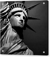 Our Lady Liberty In B/w Acrylic Print