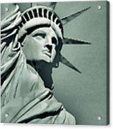 Our Lady Liberty - Verdigris Tone Acrylic Print