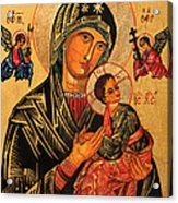 Our Lady Of Perpetual Help Icon II Acrylic Print by Ryszard Sleczka
