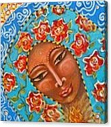 Our Lady Of The Roses Acrylic Print