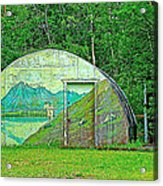 Our Lady Of The Way Quonset Hut Chapel In Haines Junction-yt Acrylic Print