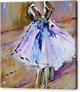 Our  Ballerina Girl Painting Acrylic Print