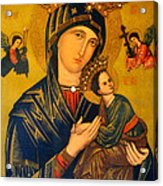 Our Mother Of Perpetual Help Rome Acrylic Print