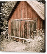 Out By The Woodshed Acrylic Print by Edward Fielding