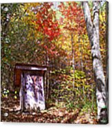 Out House In The Fall Acrylic Print