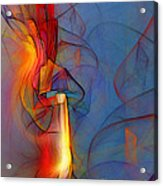 Out Of The Blue-abstract Art Acrylic Print