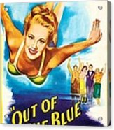 Out Of The Blue, Us Poster, From Left Acrylic Print