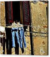 Out To Dry In San Gimigniano Tuscany Acrylic Print