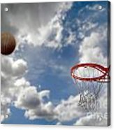 Outdoor Basketball Shot Acrylic Print by Lane Erickson